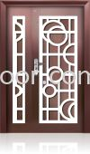 P4-W989 5ft x 7ft Art Design Security Door (NEW)