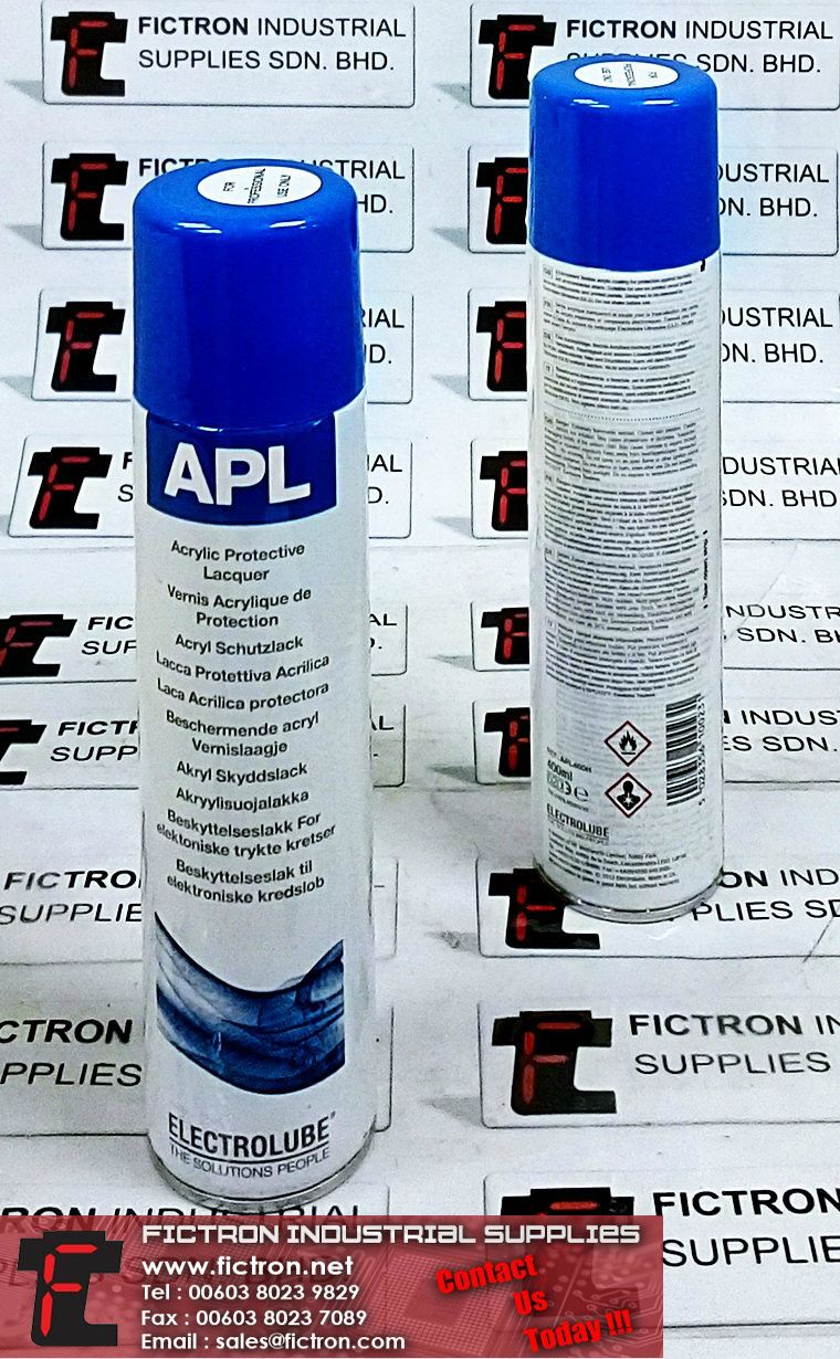 APL400H ELECTROLUBE Acrylic Conformal Coating Spray for PCB Protection Supply Malaysia Singapore Thailand Indonesia Philippines Vietnam Europe & USA ELECTROLUBE Chemicals
