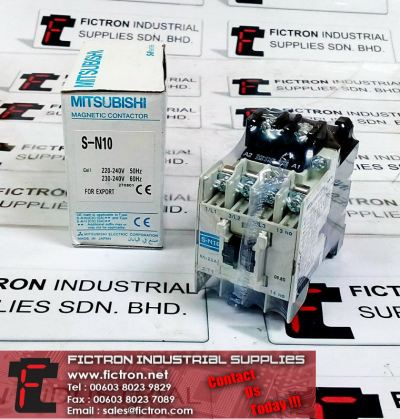 S-N10 MITSUBISHI ELECTRIC Magnetic Contactor Supply Malaysia Singapore Thailand Indonesia Philippines Vietnam Europe & USA