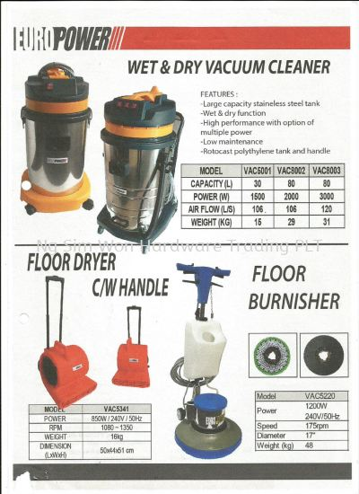 EUROPOWER CLEANING APPLIANCES