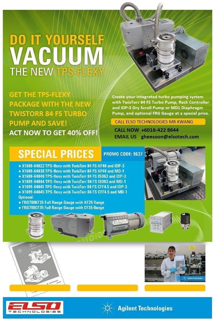 GET THE TPS-FLEXY PACKAGE WITH THE NEW TWISTORR 84 FS TURBO PUMP AND SAVE! ACT NOW TO GET 40% OFF !!