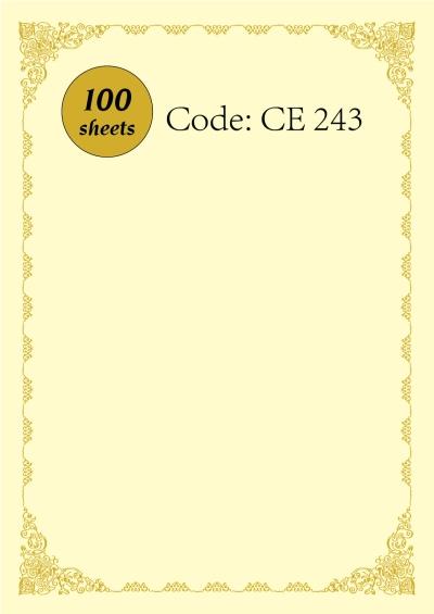 Certificate CE243