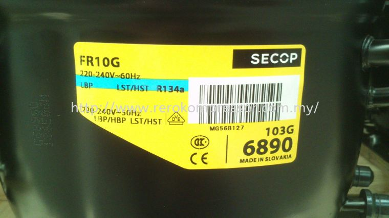 SECOP COMPRESSOR MODEL FR10G