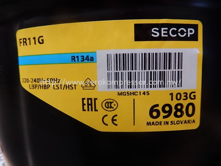 SECOP COMPRESSOR MODEL FR11G(103G6980)