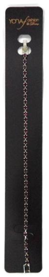 Yona Fashion 1 Line Stone Bracelet  (Purple) Bracelet Jewellery