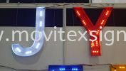 3D signboard with 3D LED lettering lighting module sample Signboard / Lighting Signboard