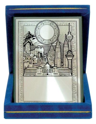 Aluminium Plaques Velvet Box & Souvenirs  WVB04 63