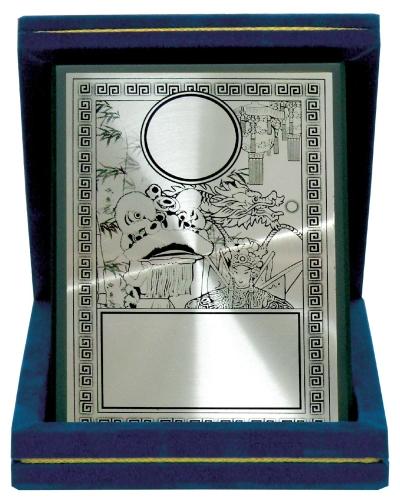 Aluminium Plaques Velvet Box & Souvenirs  WVB04 75