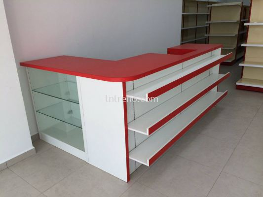 Cashier Counter with display cabinet in Malaysia