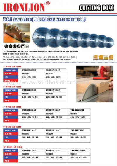 T.C.T Saw Blade (Professional Grade for Wood)