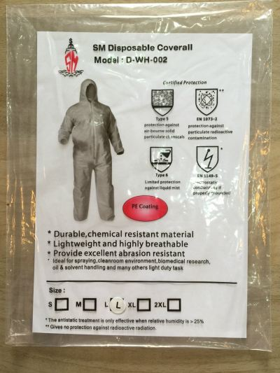 SM Chemical Resistant Disposable Coverall
