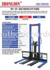 CTY-EW Hand Stacker (PU Wheel) Hand Stacker