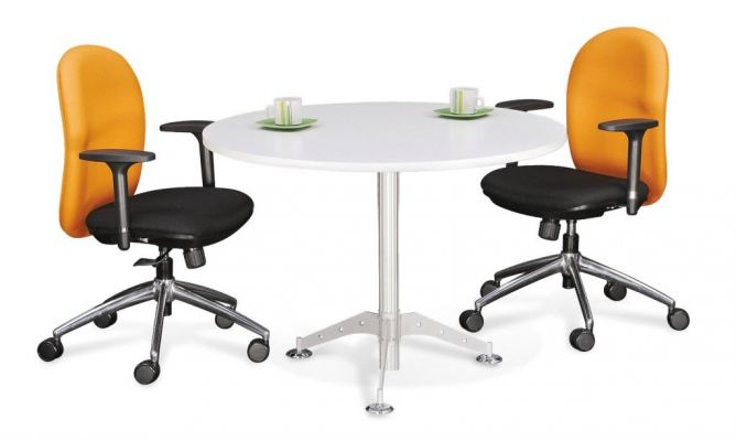 Round Meeting Table with Taxus Leg