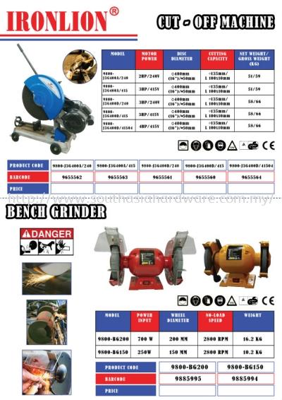Cut-Off Machine & Bench Grinder