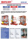 Aluminium Alloy Aerial Liftt Aerial Lift Lifting Equipment