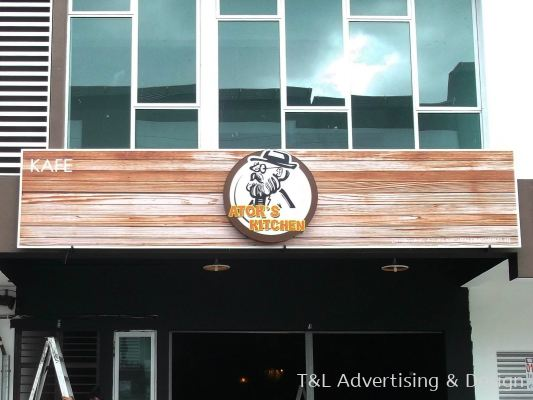 Atoks GI signboard with logo LED lightbox