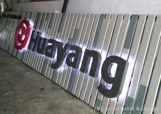 Huayang Aluminium box up backlight mounted on ceiling strip board
