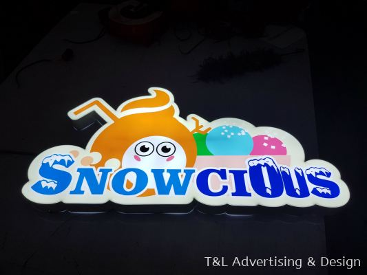 Snowcious logo LED lightbox