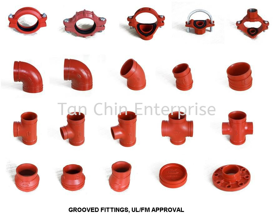Mechanical tee grooved pipe fitting fittings