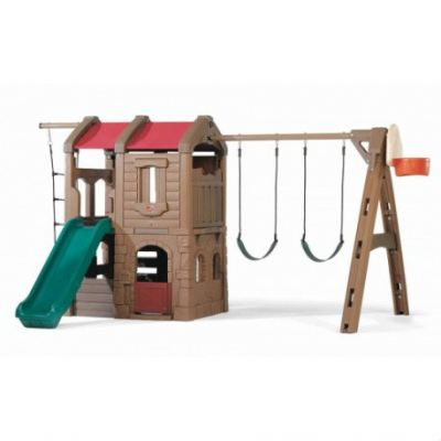 S2-8013 Naturally Playful® Adventure Lodge Play Center