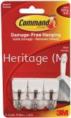 COMMAND SMALL WIRE HOOKS,6PK/IN x 36PK/CARTON HOOKS, DAMANGE FREE HANGING ( COMMAND STRIPS ) 3M
