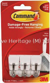 COMMAND SMALL WIRE HOOKS,6PK/IN x 36PK/CARTON