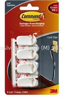 COMMAND MEDIUM CORD CLIPS, 6PK/BAG
