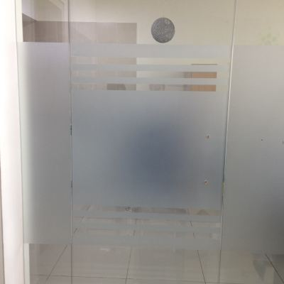 3) Customized Frosted Glass Door (After)