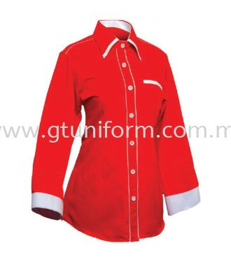 READY MADE UNIFORM F0401 (Red & White)