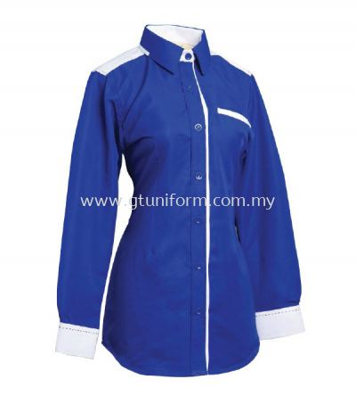 READY MADE UNIFORM F0505 (R. Blue & White)