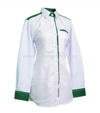 READY MADE UNIFORM F0512 (White & M. Green)