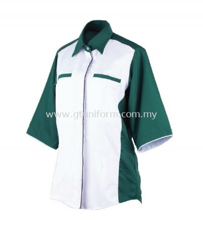 READY MADE UNIFORM F0611 (White & D. Green)