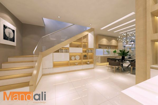 Staircase Area Design Indah Height