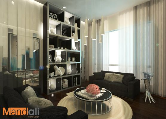 Living Hall Design Kempas Utama