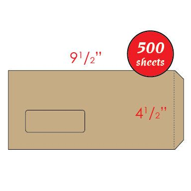 "4.5"" x 9.5"" Manila Window Envelope"