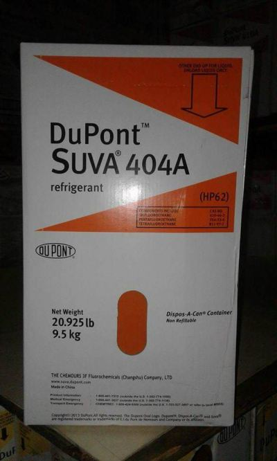 SUVA 404A (DuPont) Refrigerant Gas (9.5Kg) (CHINA)
