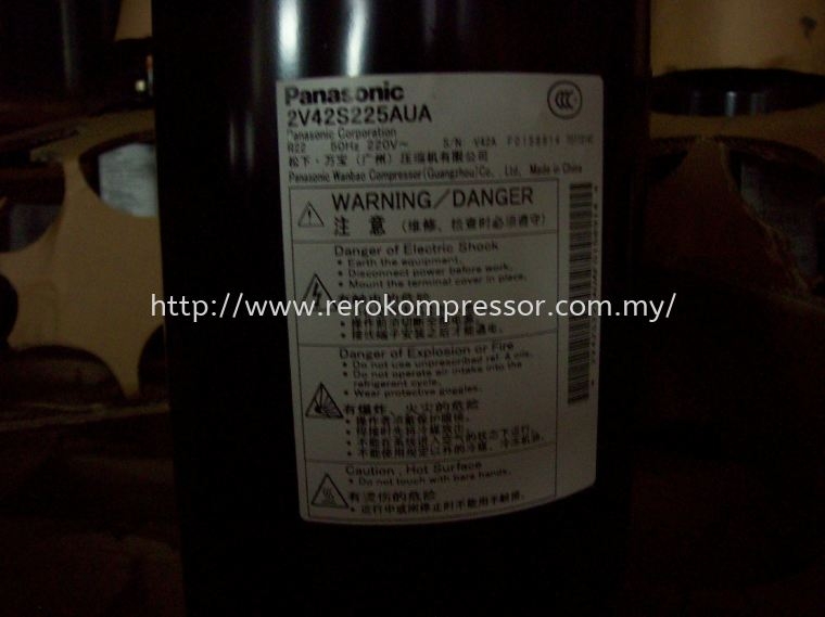 PANASONIC COMPRESSOR MODEL 2V42S225AUA