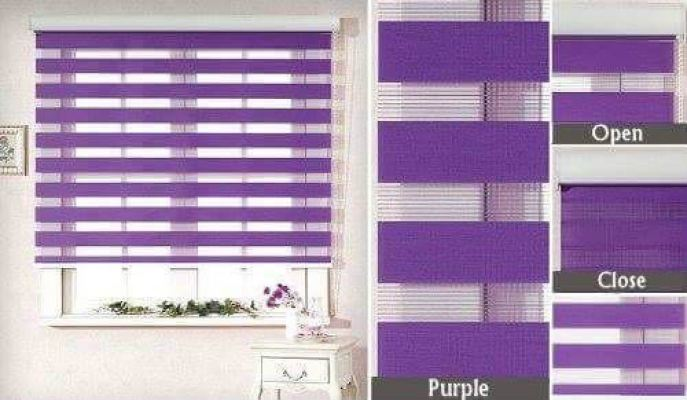 Zebra Blinds (Purple)