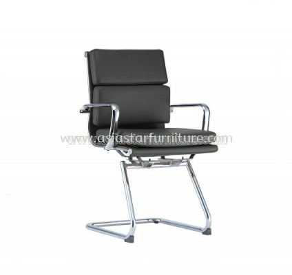 LEO-PAD VISITOR CHAIR WITH CHROME BODY FRAME