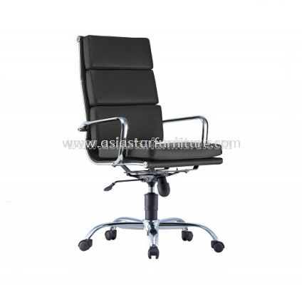 LEO-PAD HIGH BACK CHAIR WITH CHROME BODY FRAME