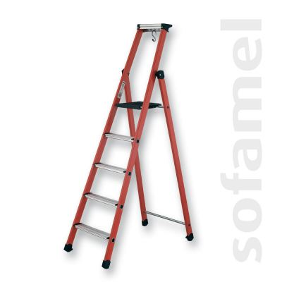 Step Ladder with Platform and Wide Aluminium Steps