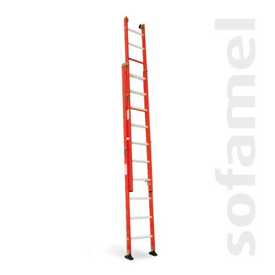 Manually Extendable Two-Section Ladder