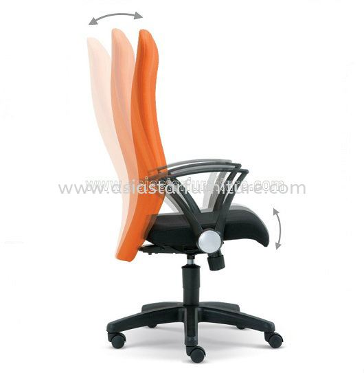 MOST SPECIFICATION - EXTRA MOTION OF THE BACKREST DURING RECLINE AUTOMATICALLY ADJUSTS TO ENSURE CORRECT POSITION