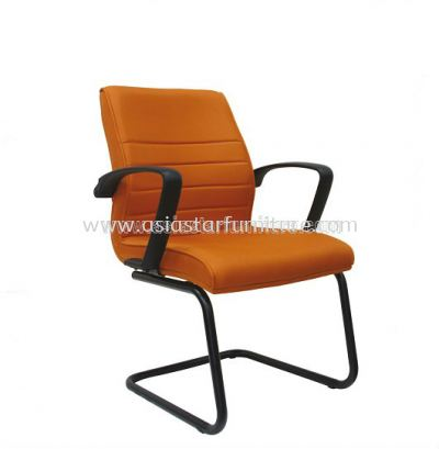 PLUS VISITOR CHAIR WITH EPOXY BLACK CANTILEVER BASE ASE 254