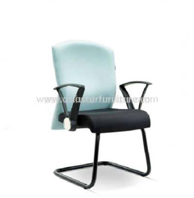 SOLVE VISITOR CHAIR WITH EPOXY BLACK CANTILEVER BASE ASE 2594
