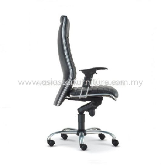 ALPHA DIRECTOR HIGH BACK CHAIR WITH CHROME TRIMMING LINE ASE 618