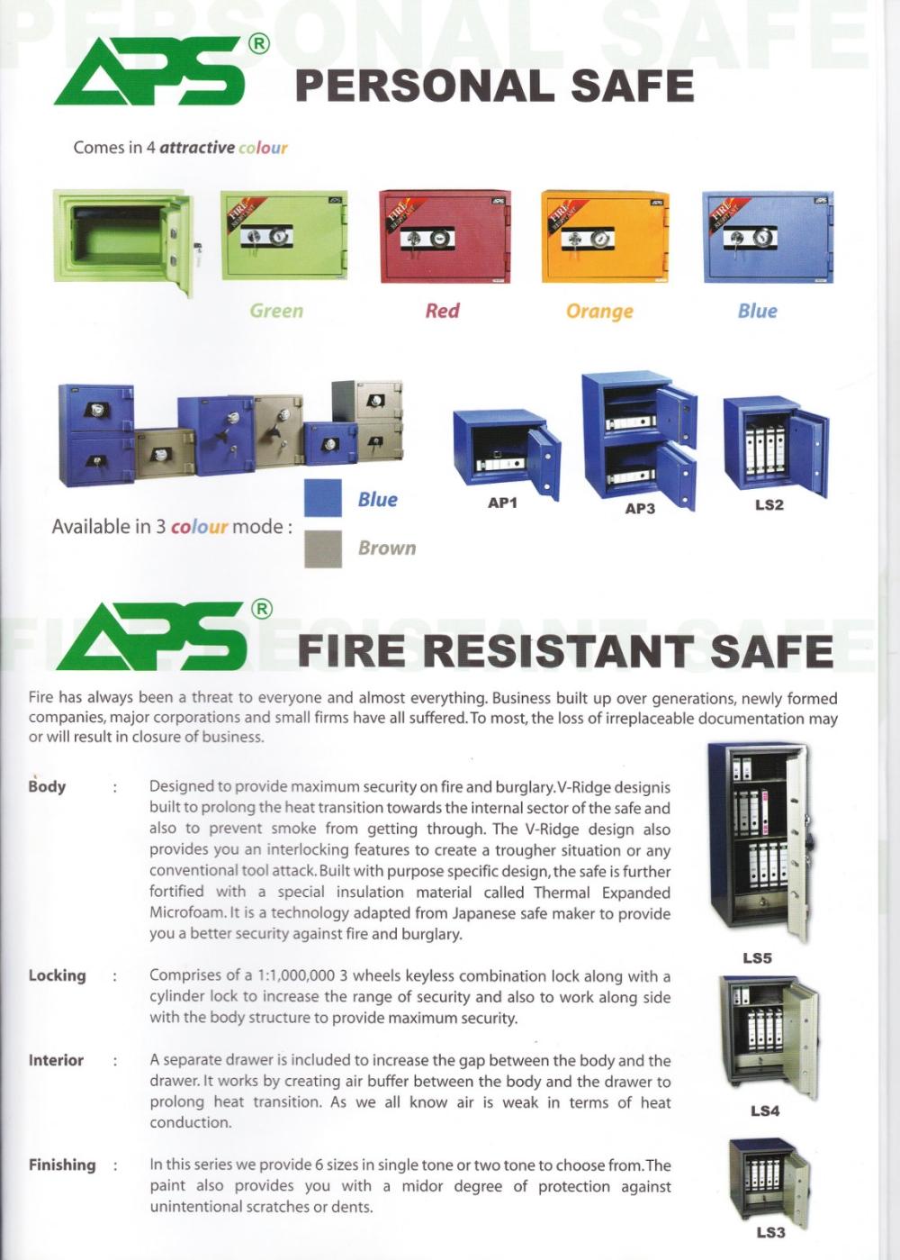 APS Personal Safe Series Personal Safe Series SECURITY BOX/ SAFETY BOX Malaysia, Selangor, Kuala Lumpur (KL), Puchong Supplier, Suppliers, Supply, Supplies | NSY Office System