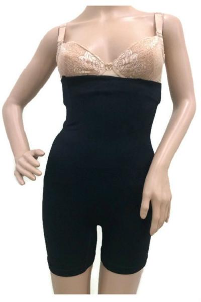 Women's Girdle Sexy Tummy Body Inner Hips and Waist Short Pants (Black)