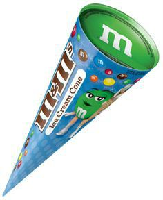 Mars M&M ice cream cone