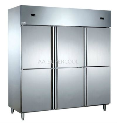 6 Door Magnetic S/Steel Chiller/Freezer